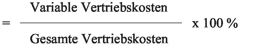 Vertriebskostenquote, variable